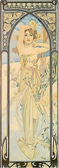 Times of the Day: Daybreak -- Alphonse Mucha, 1899